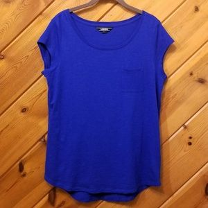 Royal Blue Tshirt with Pocket by Lands End